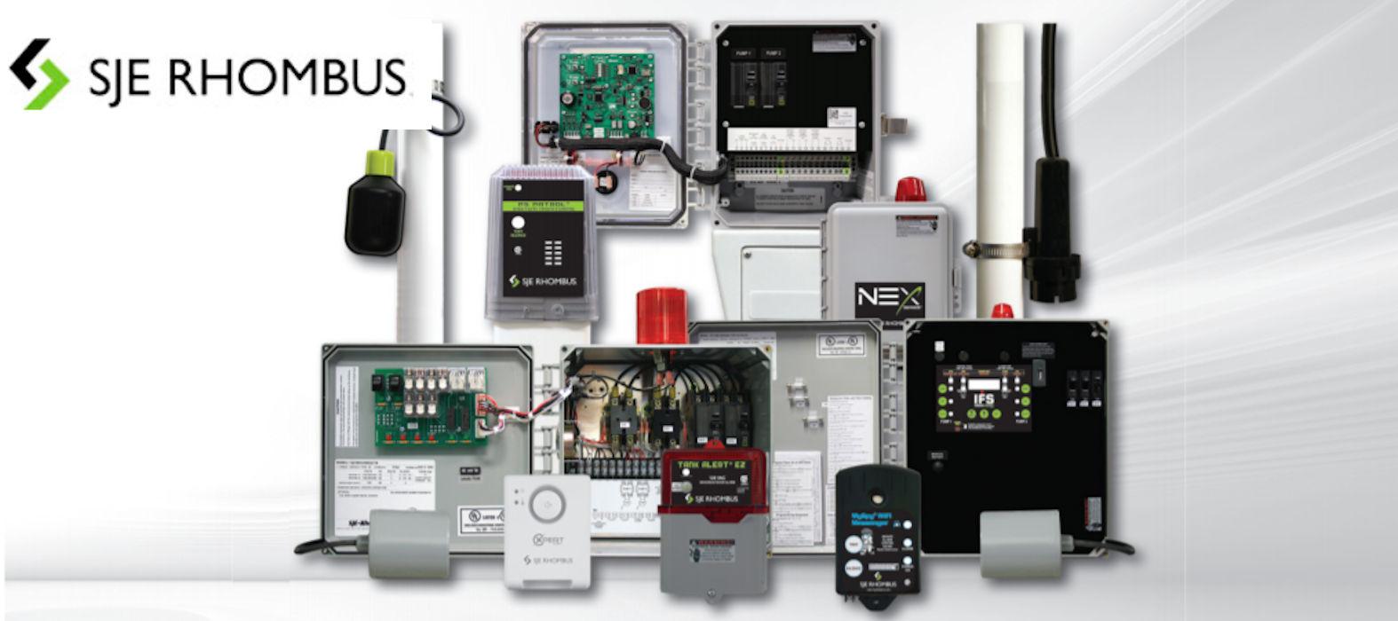 SJE_Rhombus_float_switch_alarm_control_panel